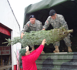 Trees for Troops are donated by the Beckwith Christmas Tree Farm-the Christmas Tree Station, for delivery to U.S. military and their families at no charge.